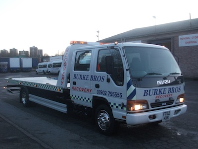 The recovery vehicle supplied to Sam by recovery World.